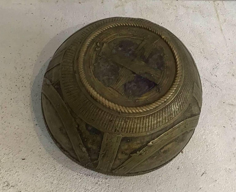 20th Century Early 20th century Dhorkra Measuring Bowl  For Sale