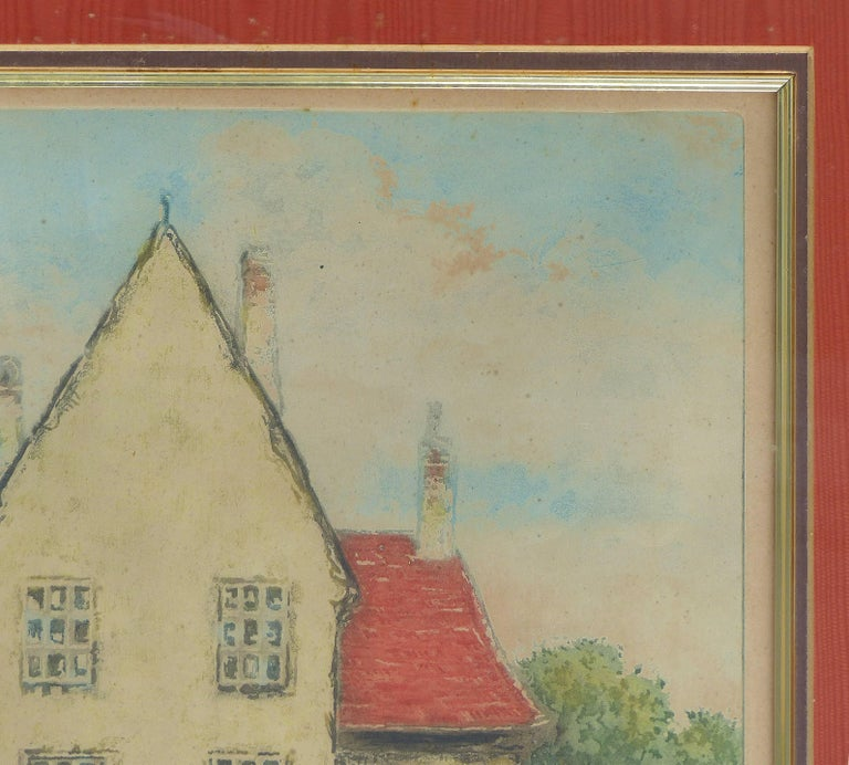 Early 20th Century European Hand-Colored Street-Scene Engravings, Pair For Sale 6