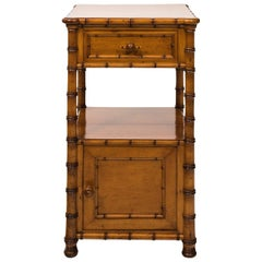 Early 20th Century Faux Bamboo Nightstand