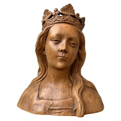 Early 20th Century Faux Bois Terracotta Sculpture of the Virgin Mary