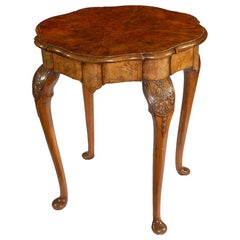 Early 20th Century Figured Walnut Centre Table