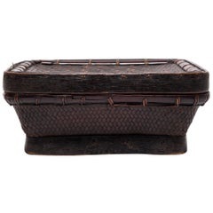 Early 20th Century Filipino Lidded Square Basket