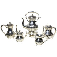 Early 20th Century Five-Piece Louis XV Style Sterling Silver Tea and Coffee Set