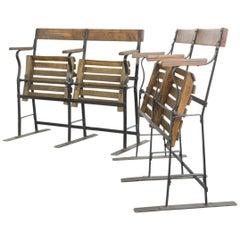 Early 20th Century Folding Train Seats