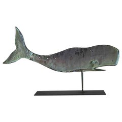 Early 20th Century Folk Art Copper Whale Weathervane