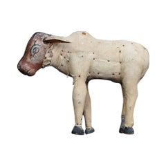 Early 20th Century Folk Art Cow Figure