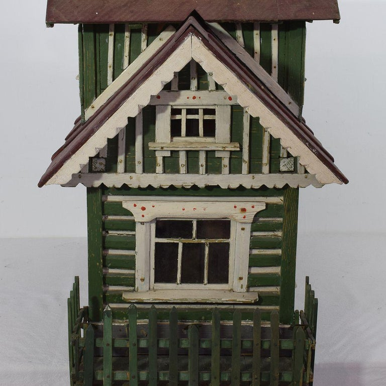 Early 20th Century Folk Art Middle European Model of a House For Sale 4