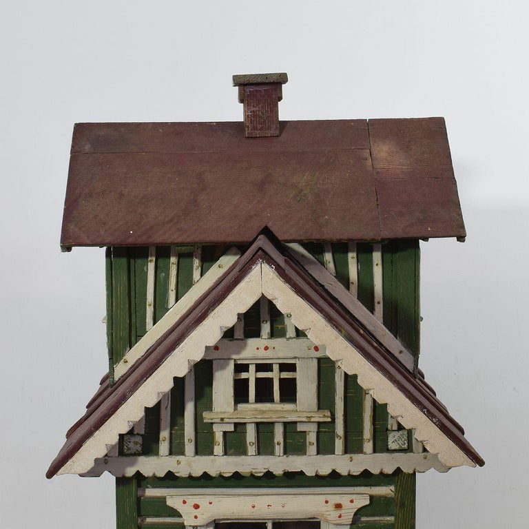 Early 20th Century Folk Art Middle European Model of a House For Sale 5