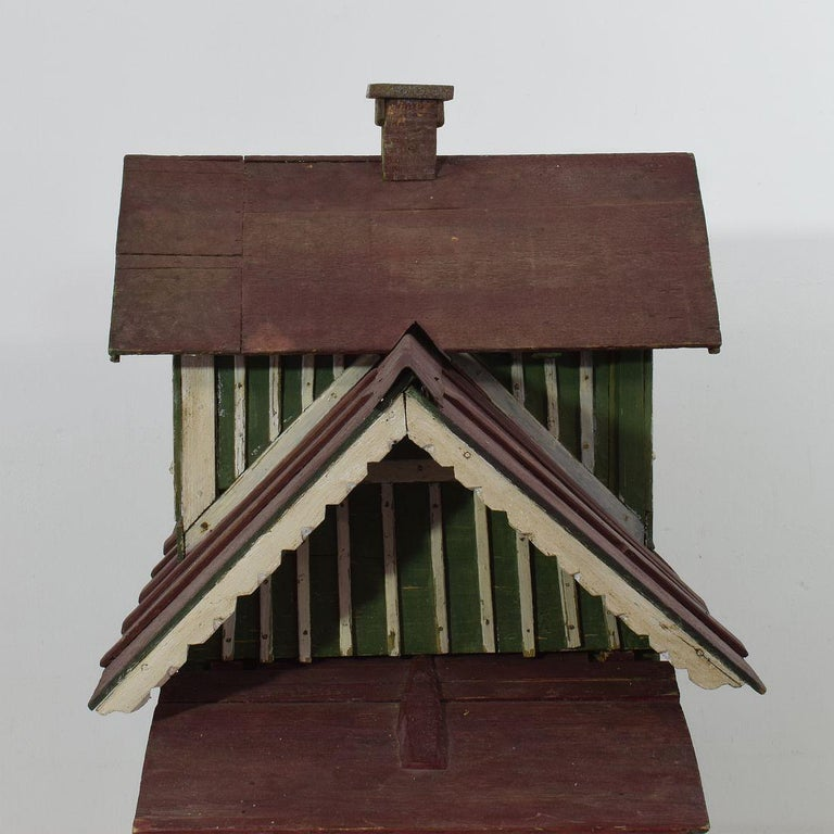Early 20th Century Folk Art Middle European Model of a House For Sale 7