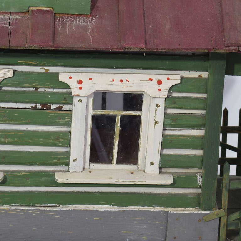 Early 20th Century Folk Art Middle European Model of a House For Sale 9