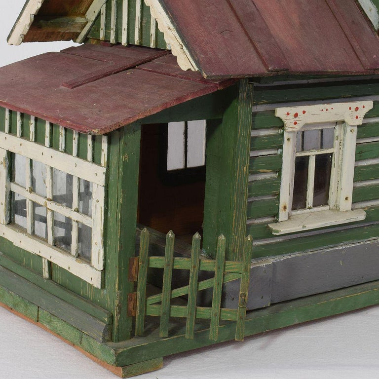 Early 20th Century Folk Art Middle European Model of a House For Sale 10