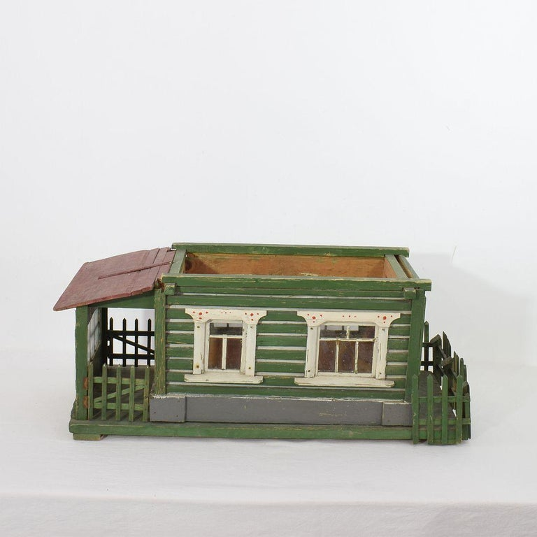 Early 20th Century Folk Art Middle European Model of a House For Sale 11