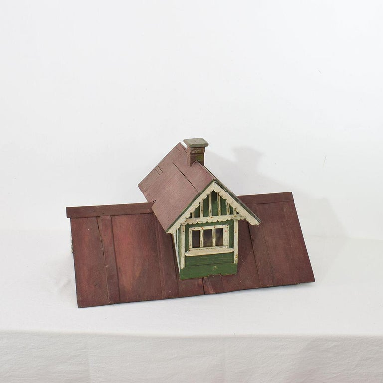 Early 20th Century Folk Art Middle European Model of a House For Sale 13