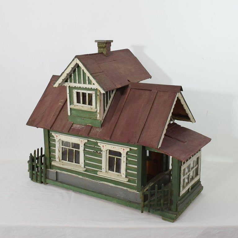 Hand-Crafted Early 20th Century Folk Art Middle European Model of a House For Sale