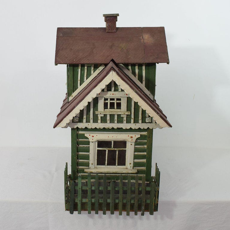 Wood Early 20th Century Folk Art Middle European Model of a House For Sale