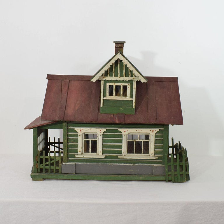 Early 20th Century Folk Art Middle European Model of a House For Sale 1