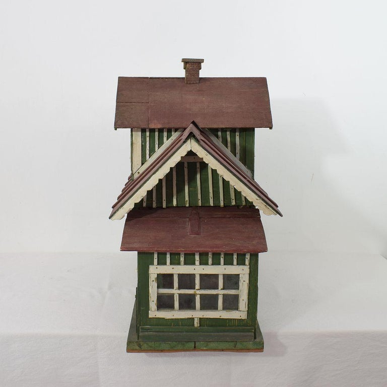 Early 20th Century Folk Art Middle European Model of a House For Sale 2