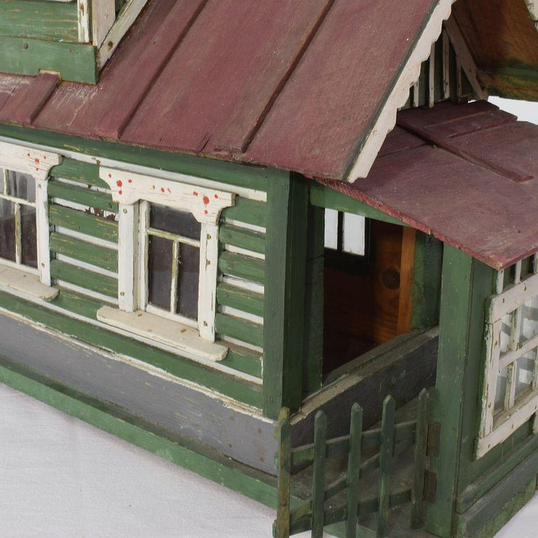 Early 20th Century Folk Art Middle European Model of a House For Sale 3