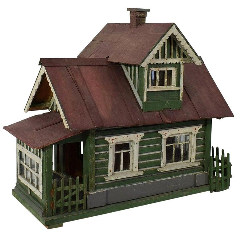 Early 20th Century Folk Art Middle European Model of a House For Sale