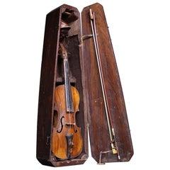 Early 20th Century Folk Art Carved Violin, Lock Miller Estate