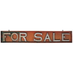 "Early 20th Century ""FOR SALE"" Sign"
