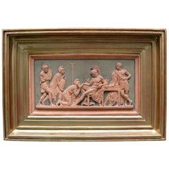 Early 20th Century Framed Neoclassical Terracotta Plaque after Thorlvladsen