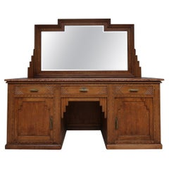 Early 20th Century French Art Deco Barbershop Dressing Table