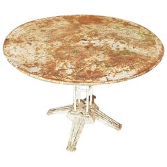 Early 20th Century French Art Deco Metal Garden Table