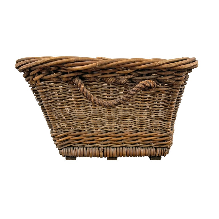 Reed Early 20th Century French Basket For Sale