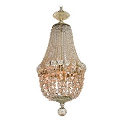 Early 20th Century French Basket Form Chandelier