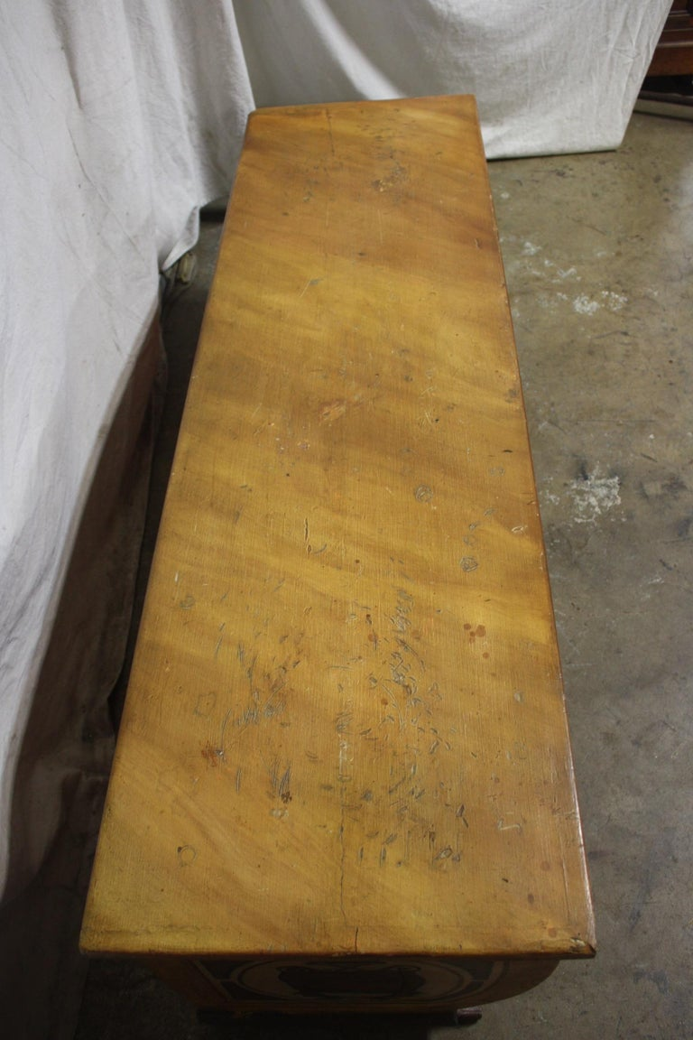 Early 20th Century French Bench Trunk For Sale 6