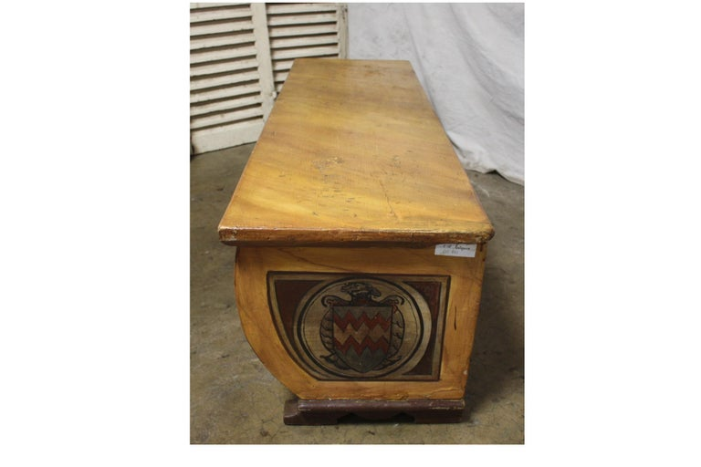 Renaissance Early 20th Century French Bench Trunk For Sale