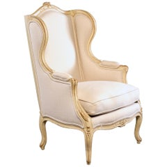 Early 20th Century French Bergère with New Upholstery