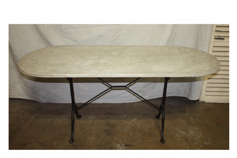 Early 20th century French bistro table.