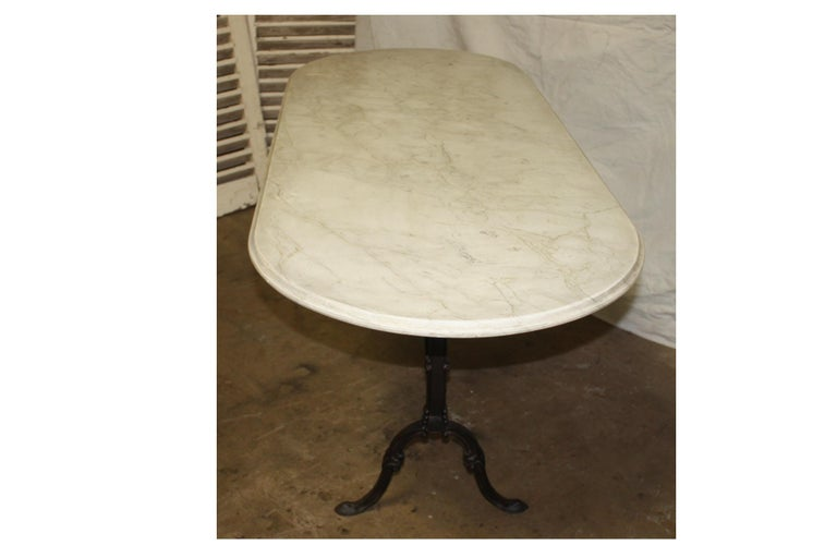 Iron Early 20th Century French Bistro Table For Sale