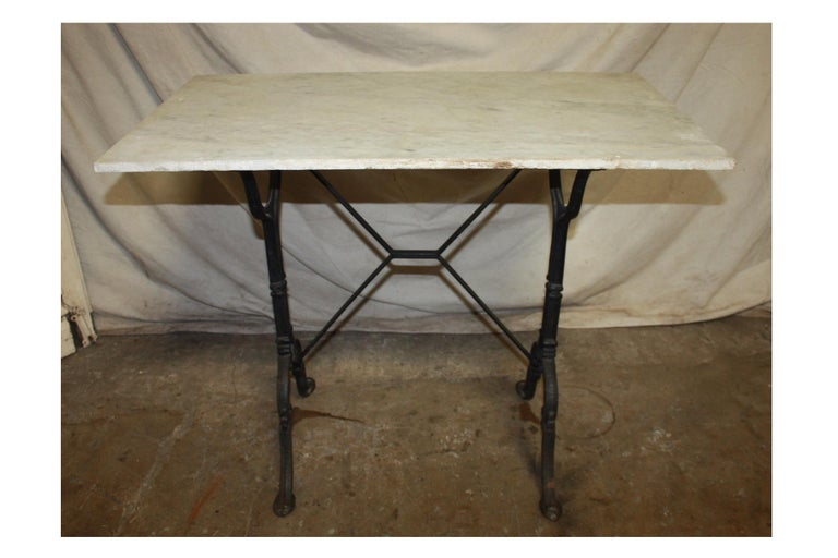 Early 20th Century French Bistro Table For Sale 4