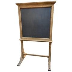 Early 20th Century French Black Board, Chalkboard