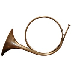"Early 20th Century French Brass ""Cor de Chasse"" Hunting Horn"