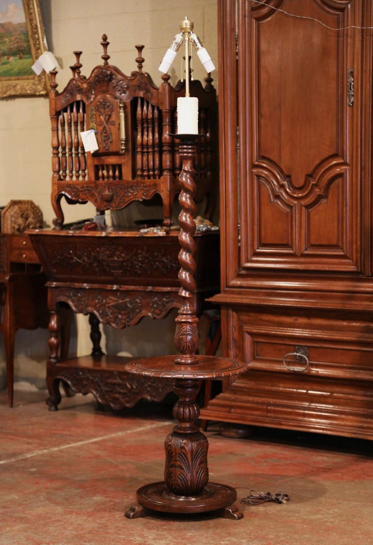 Early 20th Century French Carved And Barley Twist Floor