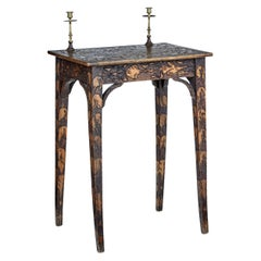 Early 20th Century French Carved Poker Work Writing Table
