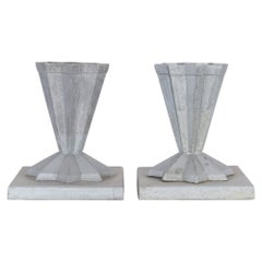 Early 20th Century French Cast Aluminum Planters, a Pair