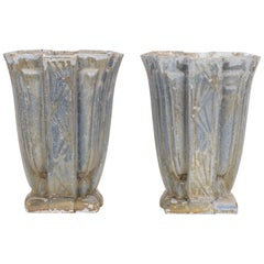 Early 20th Century French Cast Iron Planters, a Pair