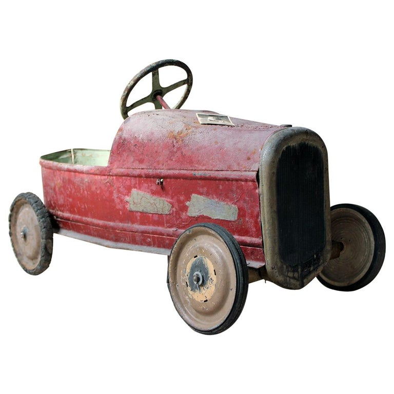 Early 20th Century French Child's Painted Metal Pedal