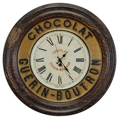 Early 20th Century French Chocolat Advertising Clock