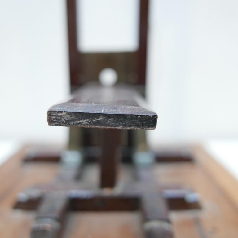 Early 20th century French Cigar Cutter Model of a Guillotine For Sale 5