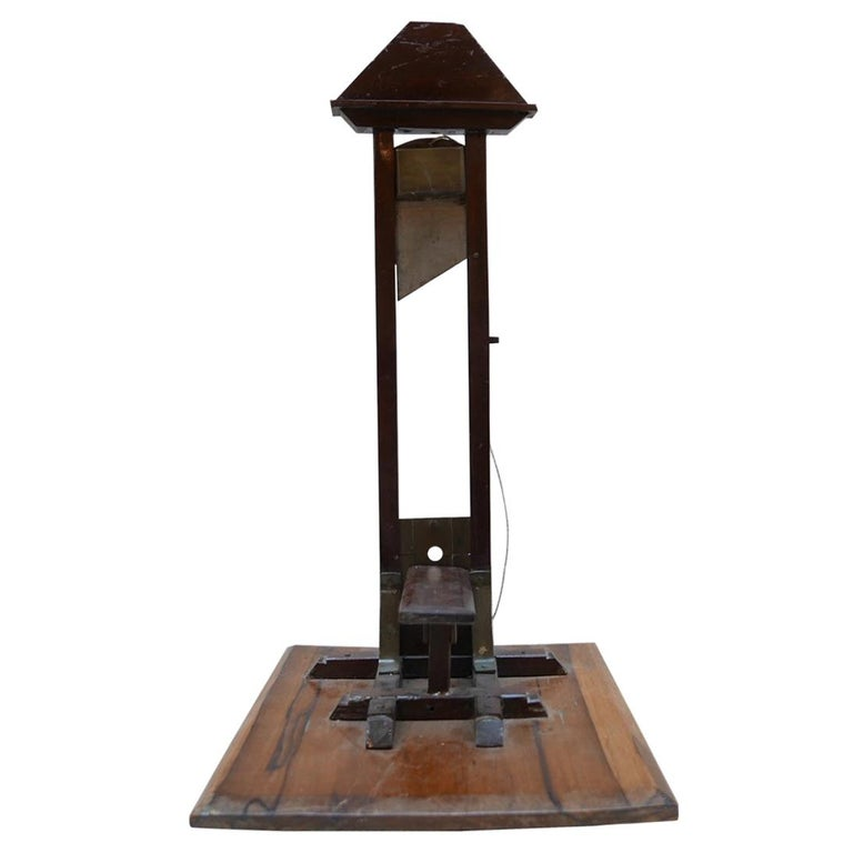 Early 20th century French Cigar Cutter Model of a Guillotine For Sale