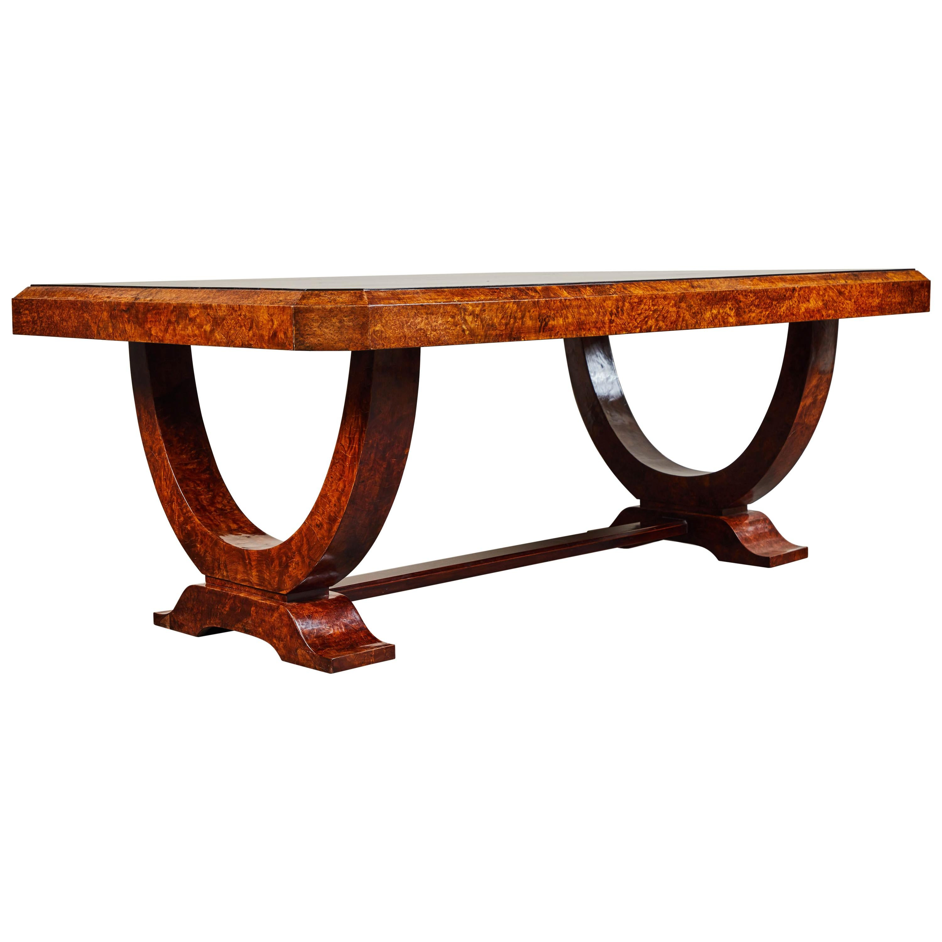 Early 20th Century French Colonial Art Deco Dining Table