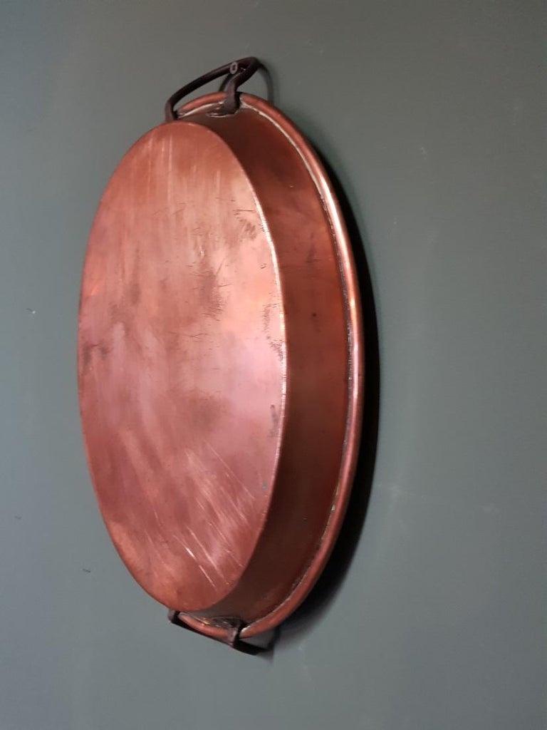 Early 20th Century French Copper Oven Dish In Good Condition For Sale In Raalte, NL