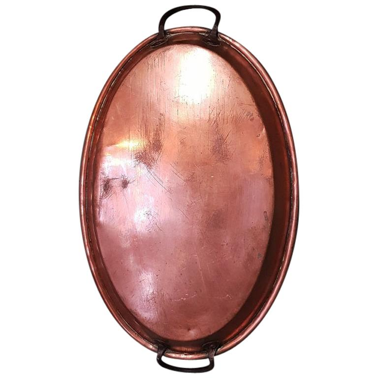 Early 20th Century French Copper Oven Dish For Sale