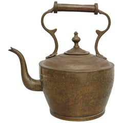 Early 20th Century French Country Brass Teapot